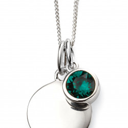 Birthstone Silver Pendant May P4594