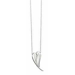 Silver Organic Heart Shaped Necklace N4315