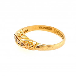 Pre Owned 18ct 5 Stone Diamond Ring ZAL286