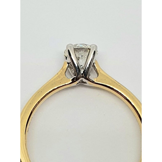 Pre Owned 18ct Diamond Solitaire Ring .70ct ZD197