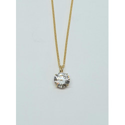 Pre Owned 9ct CZ Pendant and Chain ZE246