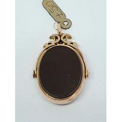 Pre Owned 9ct Rose Fob Pendant ZG74