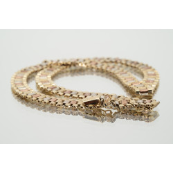 Pre Owned 9ct 3 Tone Necklet ZH252