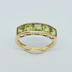 Pre Owned 9ct Peridot ET Ring ZH680