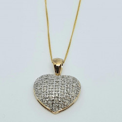 Pre Owned 9ct Diamond Pendant and Chain ZH683684