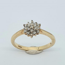 Pre Owned 9ct Diamond Cluster Ring ZH688