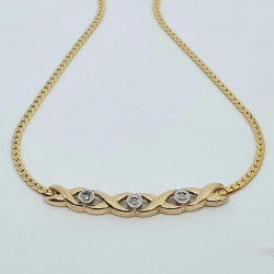 Pre Owned 9ct Diamond Necklet ZH691
