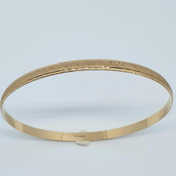 Pre Owned 9ct Patterned Bangle ZH701