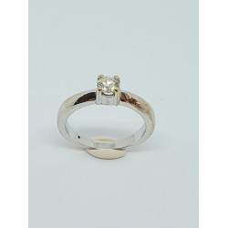 Pre Owned 18ct White Gold Diamond Solitaire Ring ZH824