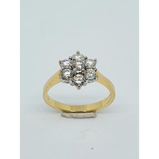 Pre Owned 18ct Diamond Cluster Ring ZH885