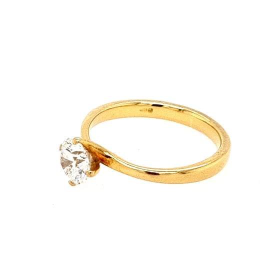 Pre Owned 18ct Diamond Solitaire Ring ZH887