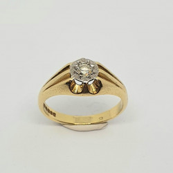 Pre Owned 18ct Single Diamond Ring ZH888