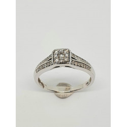 Pre Owned 18ct White Gold Diamond Ring ZH897