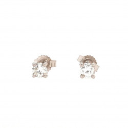 Pre Owned 9ct White Gold Diamond Studs ZK124