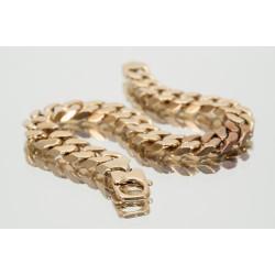 Pre Owned Mens 9ct Curb Bracelet ZK199
