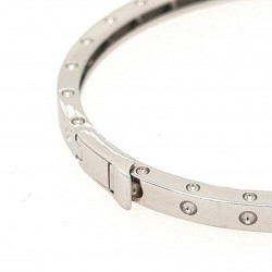 Pre Owned 18ct White Gold Hinged Bangle ZK446