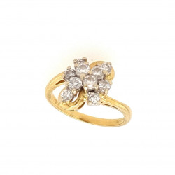 Pre Owned 18ct Diamond Cluster Ring ZK495