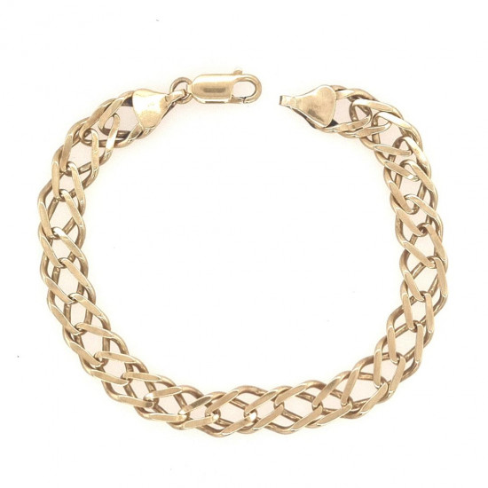 Pre Owned 9ct Double Link Curb Bracelet ZK525