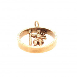 Pre Owned 9ct Open St Christopher ZK661