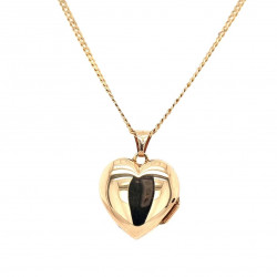 Pre Owned 9ct Heart Locket and chain ZK662