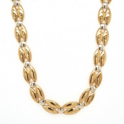 Pre Owned 9ct Two Tone Necklet ZK665