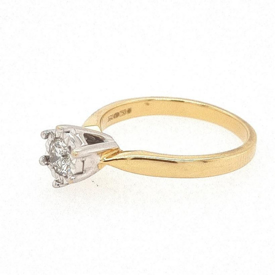 Pre Owned 18ct Diamond Solitaire Ring ZK666