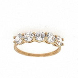 Pre Owned 9ct 5 CZ Et Style Ring ZK667