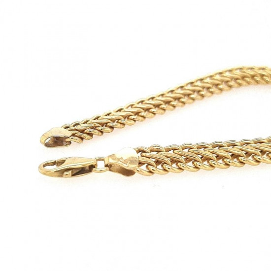 Pre Owned 9ct Hollow Link Bracelet ZK891