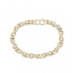 Pre Owned 9ct Infinity Bracelet ZL12
