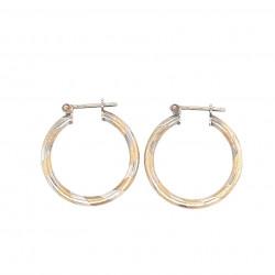 Pre Owned 9ct Hoop Earrings ZL157