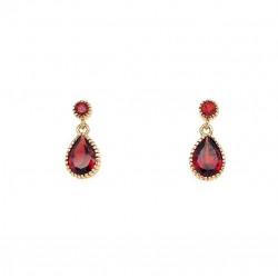 Pre Owned 9ct Garnet Drop Earrings ZL16