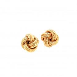 Pre Owned 9ct Knott Stud Earrings ZL164