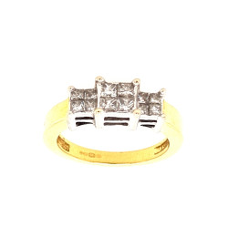 Pre Owned 18ct Diamond Ring ZL281