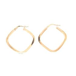 Pre Owned 9ct Hoop Earrings ZL282