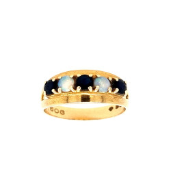Pre Owned 9ct Sappire and Opal Ring ZL416