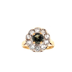 Pre Owned 9ct Spinel Cluster Ring ZL419