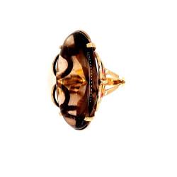 9ct Smokey Quartz Ring ZL438
