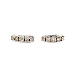 Pre Owned 18ct White Gold Diamond Set Earrings 1.3 Carat ZL439