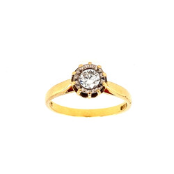 Pre Owned 18ct Diamond Solitaire ZL442