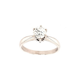 Pre Owned 18ct White Gold 0.65 Carat Diamond Solitaire Ring ZL463