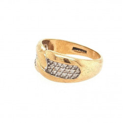 Pre Owned 9ct Diamond Infinity Ring ZL7
