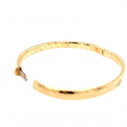 Pre Owned 9ct Hinged Bangle ZL75
